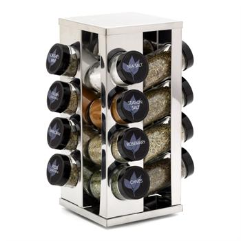 Kamenstein 16 Jar Filled Heritage S/S Spice Rack