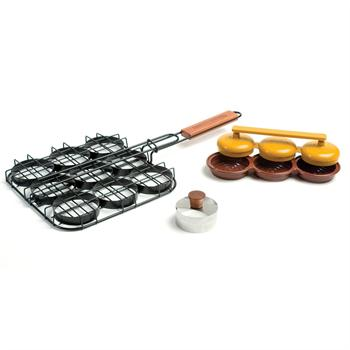 Charcoal Companion Mini Burger Sliders Grilling Set