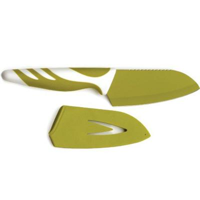 RSVP Endurance Green Stainless Steel Nonstick Santoku Knife, 4.5 Inch
