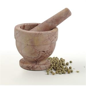 RSVP Red Marble Mortar & Pestle
