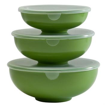 Hutzler Prep-Serve & Store 3 Piece Bowl Set, Assorted Colors