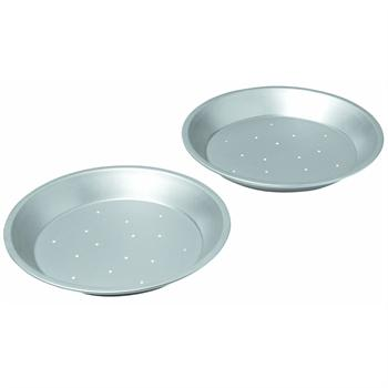 Chicago Metallic Commercial II 9-Inch Perforated Pie Pans, Set of 2