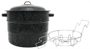 Granite-Ware Enameled Steel 21.5 Quart Canner With Rack