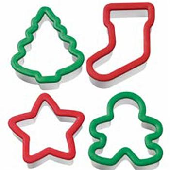 Wilton 4 Piece Christmas Grippy Cookie Cutter