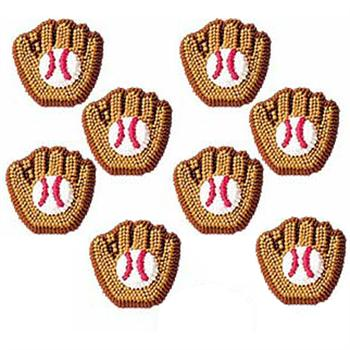 Wilton Baseball Mitt Icing Decorations