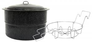 Granite-Ware Enameled Steel 33 Quart Canner With Rack