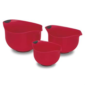 Cuisinart BPA-free Red Mixing Bowls, Set of 3