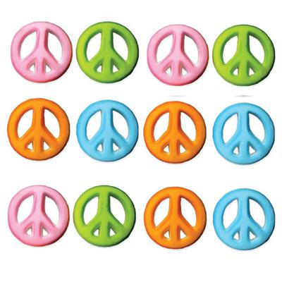 Lucks Peace Sign Assortment Sugars, 12 Count
