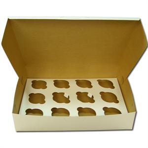 White 1 Dozen Jumbo Cupcake Box - 2 Piece