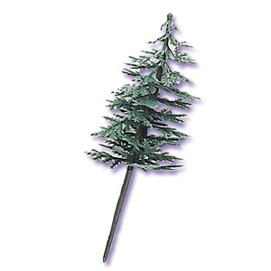 Green Pine Tree Cake Toppers