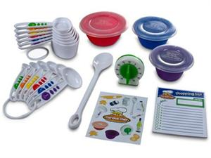 Curious Chef 17 Piece Kids Measure And Prep kit