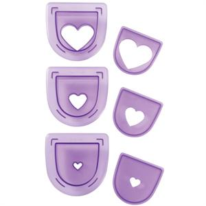 Wilton 3-Pc. Layered Hearts Cutting Insert Set