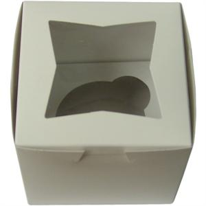TBK White Single Cupcake Box With Insert - 12 Sets Per Pack