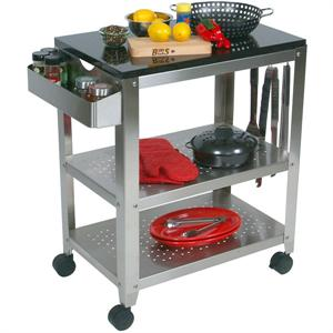 John Boos Stainless Steel & Granite Outdoor Culinary Kitchen Cart