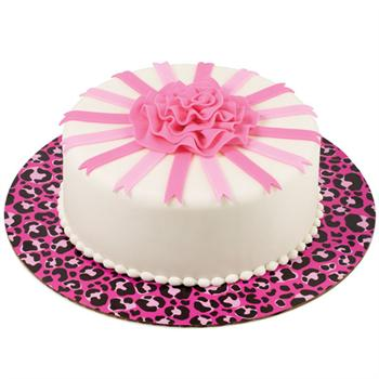 Wilton Pink Leopard Print Fashion Cake Boards