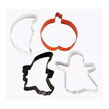 Wilton 4-Pc. Spooky Shapes Halloween Metal Cookie Cutter Set