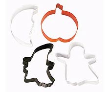 4-Pc. Spooky Shapes Halloween Metal Cookie Cutter Set
