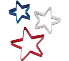 3 Piece Red, White And Blue Cutter set