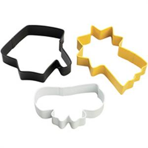 Wilton 3 Piece Graduation Cookie Cutter Set