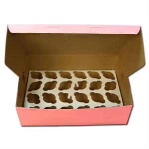 TBK Pink 2 Dozen Mini Cupcake Box - 2 Piece