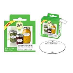 Ball Dissolvable Labels 60-pc