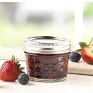 Ball 4-oz. Quilted Crystal Jelly Jars, Set of 12