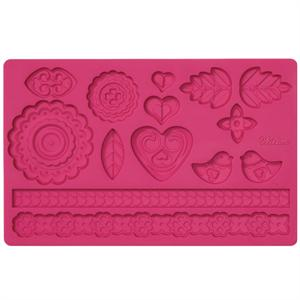 Wilton Folk Fondant and Gum Paste Mold