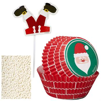 Wilton Santa Cupcake Decorating Kit