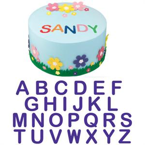 26-Pc. Classic Alphabet Cake Stamp Set