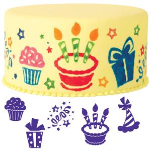 Wilton 6-Pc. Party Fun Cake Stamp Set
