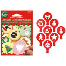 Christmas Cupcake & Cookie Stencils 8-pc Set