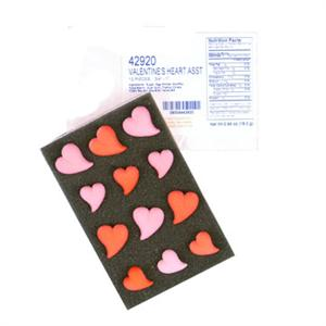Valentine Heart Assortment Sugar Decorations - 12 Count