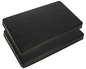 Range Kleen Black Rectangle Burner Cover, Set Of 2