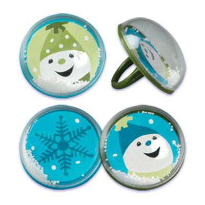 Bakery Crafts Snow Globe Cupcake Rings, 36 Count Pack