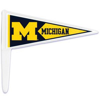 Bakery Crafts University of Michigan Pennant Pennant Picks, 36 Count Pack