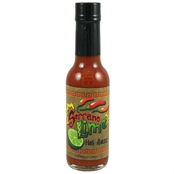 CaJohn's Serrano Lime Hot Sauce, 5 Ounce