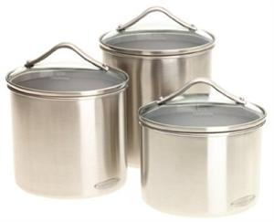 Calphalon 3 Piece Stainless Steel Canister Set