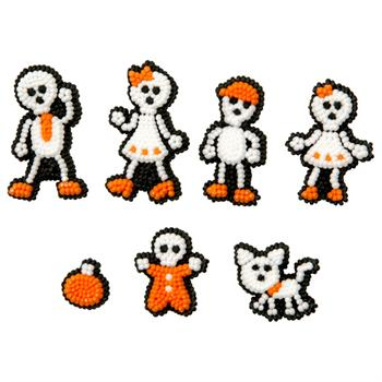 Wilton Skeleton Family Icing Decorations