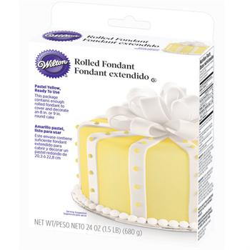 Wilton Ready-To-Use Pastel Yellow Rolled Fondant