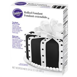 Ready-To-Use Black Rolled Fondant