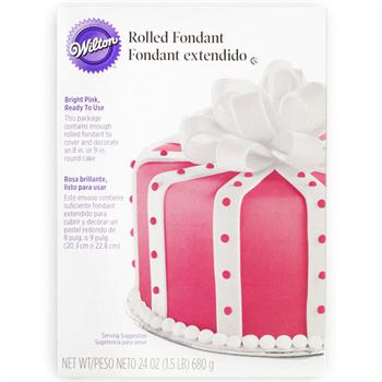 Wilton Ready-To-Use Bright Pink Rolled Fondant