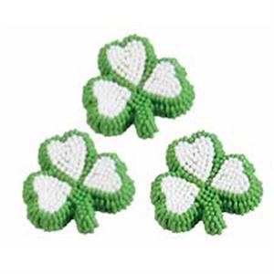 Wilton Shamrock Icing Decorations