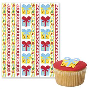 Gifts Edible Pre-Cut Borders and Stickers