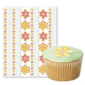 Flower Edible Pre-Cut Borders and Stickers