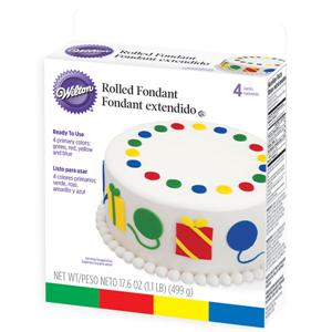 Rolled Fondant Primary Colors Multi-Pack