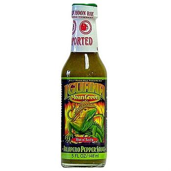 Iguana Mean Green Hot n' Tasty Jalapeno Pepper Sauce, 5 Ounce