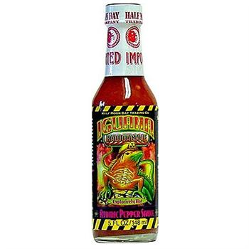 Iguana Radioactive Explosively Hot Atomic Pepper Sauce, 5 Ounce