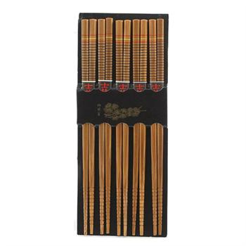 Harold Import Silk Wrapped Bamboo Chopsticks, 5-Pairs