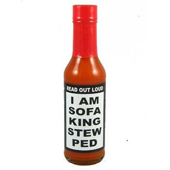 I Am Sofa King Stew Ped Hot Sauce, 5 Ounce