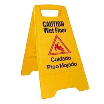 Winco Yellow Wet Floor Caution Sign